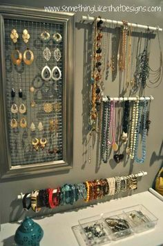 DIY Jewelry Organization @Josie Martinez DeMuth