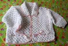 Artesanato Fofo: Casaquinho de crochê para baby