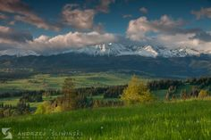 Spring in Podhale, Lesser Poland. The Tatra Mountains on the background.  #landscapephotography
