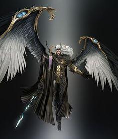 Etharheus o Celestial Fantasy Armor, Fantasy Weapons, Dark Fantasy Art, Fantasy Character Design, Character Design Inspiration, Character Art, Dnd Characters, Fantasy Characters, Angel Warrior
