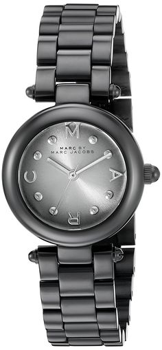 2ab251c2bab Marc by Marc Jacobs Women s MJ3453 Dotty Gunmetal-Tone Stainless Steel  Watch