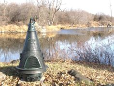 The Blue Rooster Garden Chiminea in Green