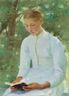 "HELENE SCHJERFBECK, ""Before Confirmation""."