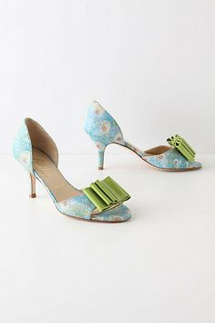 cf6f07f4ab green and blue heels Beautiful High Heels