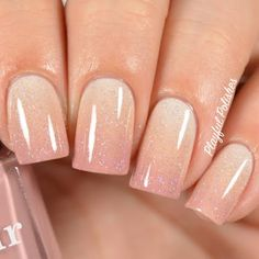 Give your nails a fancy treat with this fabulous gradient nail art finished with a glittery polish for extra sparkle. Be inspired by this manicure by knowing the how to using the essentials listed.