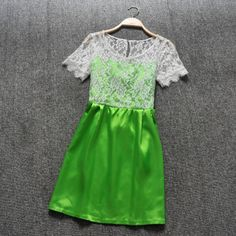 Stitching lace dress AFAJEI