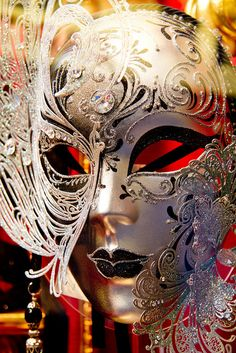 Crystal studded carnival mask, Italy