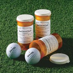 """Par-Scription Golf Ball Set - Personalized Gift  Made these for the bosses for Christmas presents...included a gift card to Golf Galaxy for """"refills"""""""