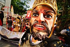 A Gaping Morion Out on Marinduque's Street Holy Wednesday, Holy Monday, Moriones Festival, Festival Dates, Roman Centurion, Jollibee, It Band, The Cross Of Christ, Holy Week