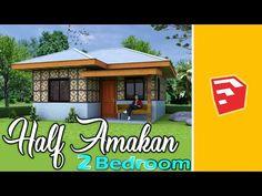 Bamboo House Design, Simple House Design, Dream Home Design, Home Design Plans, Modern House Design, Simple House Plans, My House Plans, Cement House, Philippines House Design