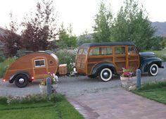 1946 International  K-1 Woody with matching tear-drop trailer