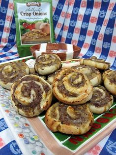bacon cheeseburger pinwheels...YUM!  you could totally do this with our ground turkey for a healthy twist!!