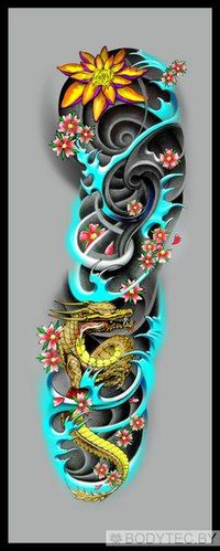 With koi fish instead of a dragon. Japanese Tattoo Art, Japanese Tattoo Designs, Japanese Sleeve Tattoos, Forearm Tattoos, Body Art Tattoos, Tattoo Drawings, Tribal Tattoos, Future Tattoos, Tattoos For Guys