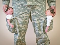 SFC Smith with his twins.  Sweet picture, great father, great Soldier.