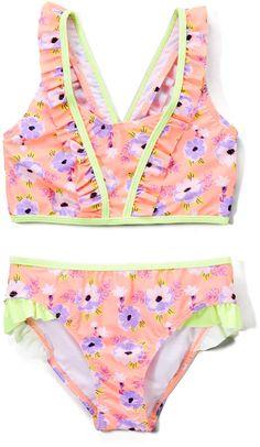 Cozeyat Pet Dog Cat Printed Toddler Girls Bikini Cute Swim Bathing Suits for Little Girls 2T 3T 4T
