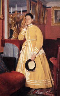 Portrait of Madame Edmondo Morbilli, born Therese De Gas - Edgar Degas