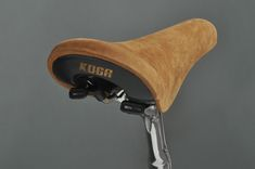 Bertelli & Cyrus, an italian furniture company, designed a bike which features a nice suede Koga saddle from the '80.