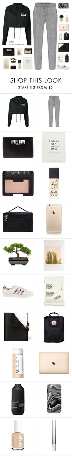 """i'm out of my mind like an insane person"" by cottonisth ❤ liked on Polyvore featuring Hood by Air, Givenchy, ...Lost, NARS Cosmetics, Wilder California, adidas Originals, Comodynes, Hermès, Fjällräven and Living Proof"