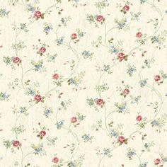 CG97095 Rust Floral Vine - Virginia - Cottage Garden Wallpaper by Chesapeake