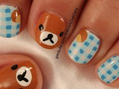 Rilakkuma Nail Art - YouTube
