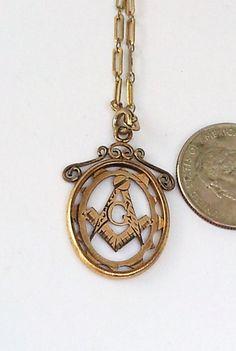 Vintage Retro Gold Masonic Hand Carved by SinginHoundBeadz on Etsy, $48.00