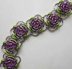 rose chain maile bracelet design