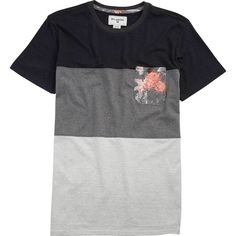 Billabong Unisex Tribong Short Sleeve Crew Tee ($35) ❤ liked on Polyvore featuring tops, t-shirts, grey heather, knit tops, crew-neck tee, print t shirts, crew neck t shirt, grey t shirt and short sleeve t shirt