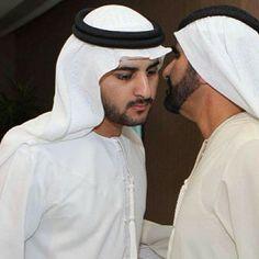 Maktoum MRM y su padre Mohammed RSM
