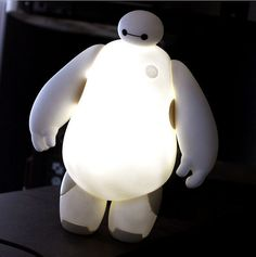 Table Bedroom Kid Gift Big Hero 6 Baymax 18CM LED Lamp by Mcaulayc