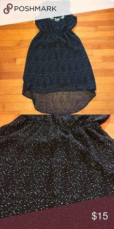High low dress Posh purchase that is too loose on me. Black high low dress with blue and green flecks. No defects. Smoke free home. Bundling available. Mossimo Supply Co Dresses High Low