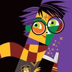 """Harry Potter"" by Pablo Lobato. [Graphic Design Illustration]"
