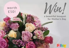 Win a bunch of flowers for your mum, we have 5 bouquets worth to giveaway! Beautiful Roses, How Beautiful, Beautiful Things, Bunch Of Flowers, Spring Time, Sewing Crafts, Daisy, Floral Wreath, Bloom