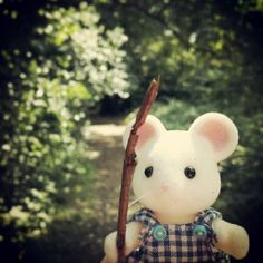 """""""Bryce Hawthorn playing the part of a brave knight in the woods near his house"""" #SylvanianSummer entry from Instagram user @MissSylvanian"""