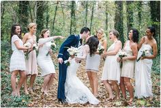 Fun bridal party photo... Charlotte Wedding!  For more insipiration visit us at https://facebook.com/theweddingcompanyni or http://www.theweddingcompany.ie