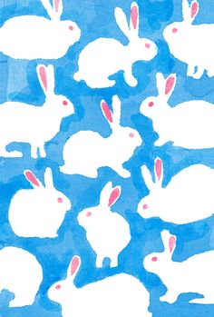 wallpapers and backgrounds (Do not own any of the content posted) Textures Patterns, Print Patterns, Rabbit Art, Bunny Art, Pattern Illustration, Stuffed Animal Patterns, Illustrations, Poster, Background Patterns
