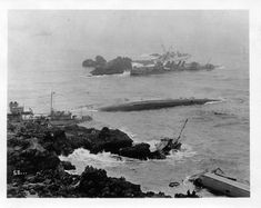 Due to a navigation error, seven US Navy destroyers grounded on Point Honda (Point Pedernales), California on 8 September 1923. All seven; USS Fuller (DD-297), USS Woodbury (DD-309), USS Young (DD-312), USS Chauncy (DD-296), USS Delphy (DD-261), USS S.P.Lee (DD-310) and USS Nicholas (DD-311) were total losses and stricken from the Naval Register. The ships were never salvaged and remain there today. The area is now part of Vandenberg AFB. - John Wright's Photos
