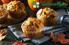 These healthy and grain free pumpkin bread muffins are made with coconut flour and pumpkin for a healthy and delicious treat.