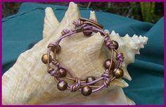 Pink Chocolate Pearl Wrap Bracelet