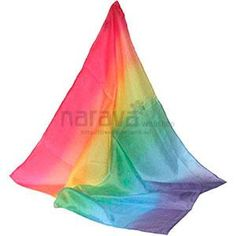 Pañuelo de seda 90x90cm para jugar - arco iris., Narava