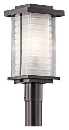 Kichler 49367az Ascari Modern Architectural Bronze Outdoor Post Lamp Kic Lights