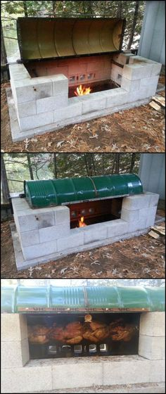 How to Build a Rotisserie Pit BBQ http://diyprojects.ideas2live4.com/2015/09/24/how-to-build-a-rotisserie-pit-bbq/ A large rotisserie pit BBQ for a large gathering! Don't be fooled by the word 'large' though! This DIY rotisserie pit is a dry-fit project which makes it easy to make. Learn how to build this DIY project in your backyard for some delicious turkey and other BBQ favourites!