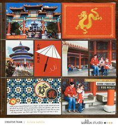 Disney Epcot China Project Life Layout page using Project Mouse (World): China…