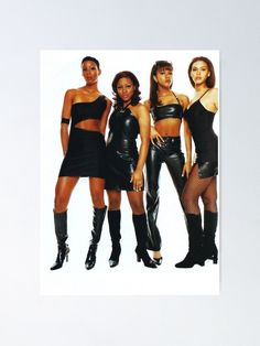 """""""Destiny's Children Serving Face"""" Poster by chic-girlxx 90s Female Rappers, Chill Outfits, Kids Outfits, South American Women, Queen Bee Beyonce, Beyonce Pictures, Hip Hop Women, Decades Fashion, Destiny's Child"""
