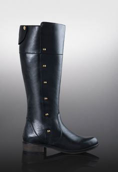 Gorgeous equestrian boot crafted from the finest leather. Meet the studded Alcott boots. LUXE by JustFab