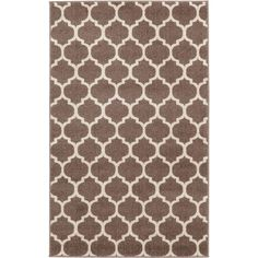 Geometric Trellis Light Brown 3 ft. x 5 ft. Rug