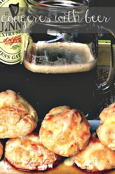 Gougeres With Beer is an easy recipe to make on St. Appetizers For Party, Appetizer Recipes, Party Recipes, Puff Pasty Recipes, How To Make Cheese, Food To Make, Puff Pastry Dough, Game Day Snacks, Melted Cheese