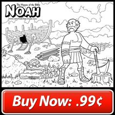 The Heroes of the Bible: Noah Coloring Page $1