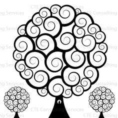 "I remember drawing a tree so similar to this in school I named it ""afro-tree"""