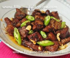 Binagoongang Pork Adobo