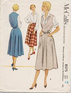 McCalls 8575 / Vintage 1950s Sewing Pattern / by studioGpatterns